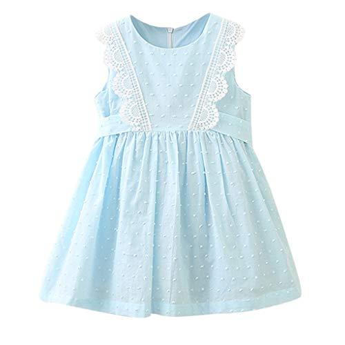 Luoluoluo kleine kinderen schert baby kantjurk voor kleding - meisjes zonder mouwen feestjurk - feestkleding prinses jurk - baby meisjes outfits kleding