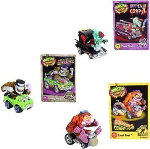 Monster 500 petit voiture & Trading voitured Collectors - Zoom Zombie, Lead Foot, Flattop Frank by Monster 500