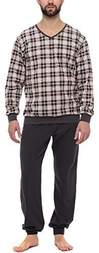 Timone Herren Schlafanzug TI30-107 (Kariert6 Graphit, M)