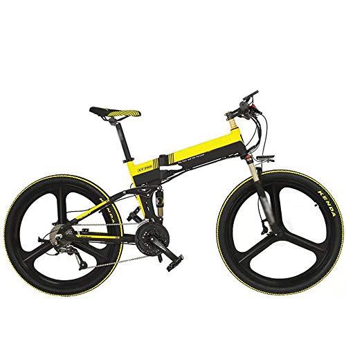 Elektrofahrrad Klappbar Erwachsene Ebike Mountainbike 26 Zoll Klapprad mit 48V 10,4Ah Lithium-Akku von Pana.sonic, 400 W Motor 30 km/h Elektrisches E-Bike E-Mountainbike für Herren Damen bis 200kg