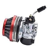 Tuimiyisou Filtro de Aire del carburador Asamblea Compatible con 49cc 50cc 60cc 66cc 70cc 80cc Motor de 2 Tiempos