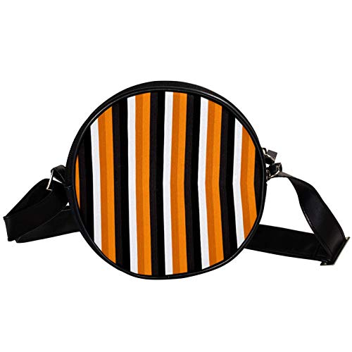 Bandolera redonda pequeña bolso de mano para mujer, bolso de hombro de moda, bolso de mensajero de lona, bolsa de cintura, accesorios para mujer, diseño de calabaza de Halloween