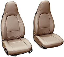 Iggee Beige Artificial Leather Custom Made Original fit Front seat Covers Designed for Porsche 911 928 944 968 1985-1998