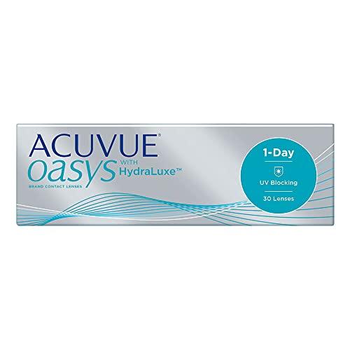 Acuvue Oasys 1-Day mit HydraLuxe Tageslinsen weich, 30 Stück, Sphärisch aus Silikon-Hydrogel