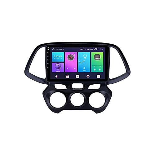 WYZXR GPS Radio Multimedia Reproductor estéreo para automóvil Receptor FM Bluetooth Voz Navegación GPS Soporte WiFi Conexión USB Enlace Espejo Google Maps para Hyundai Santro 2018-2019,4 Core 4G +