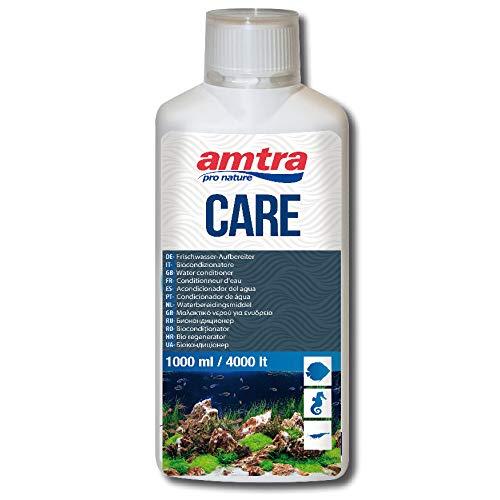AMTRA CARE - Biocondizionatore per eliminare cloro e metalli pesanti dell acqua di rubinetto, Trattamento dell acqua dell acquario, Formato 1000 ml