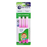 Baby Buddy 360 Toothbrush Step 1 Stage 5 for Babies/Toddlers, Kids Love Them, Pink, 3 Count by Baby Buddy