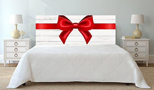 Tête de lit PVC Texture Ruban avec arc sur bois blanc sur bois blanc | 200x60cm | Disponible en différentes tailles | Tête de lit léger, élégant, résistant et économique