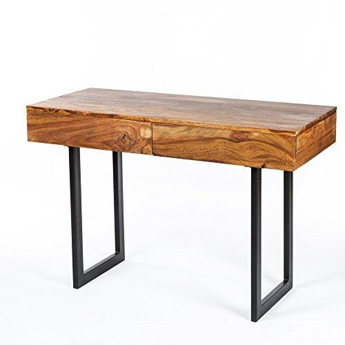 Unbekannt Schreibtisch Palisander Sheesham 115x50x78 2X Schublade Stone Finish