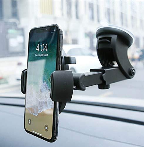 R2B Handy Autohalterung Saugnapf mit 360 Grad Drehung - Handyhalterung Auto - Auto Handyhalterung - Smartphone Halterung - Handyhalter Auto - KFZ Handyhalterung - Auto Zubehör - Universal - Schwarz