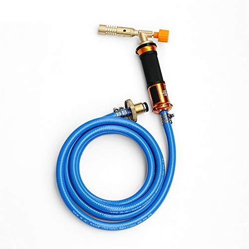 Wenhu Accensione Elettronica Kit Torcia per Saldatura a Gas liquefatto con Tubo Flessibile per Saldatura Cottura brasatura Riscaldamento Riscaldamento Illuminazione Weed Killing