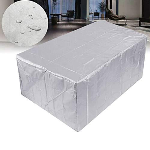 屋外パティオ家具カバー防水、大型防水大型パティオセットカバー - 屋外家具カバー - 長方形テーブルと椅子、シルバーにフィット,230*165*80cm