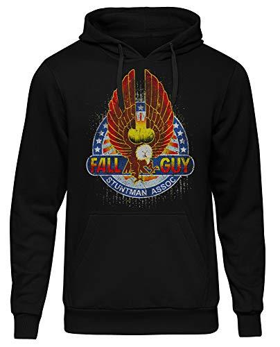 Uglyshirt89 Fall Guy Stuntman Männer Herren Kapuzenpullover | Colt Seavers (XL)