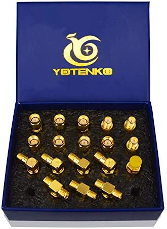 YOTENKO SMA Adapter Kit 18pcs SMA to SMA Connector Standard SMA RP SMA Male to Female Coupler product image