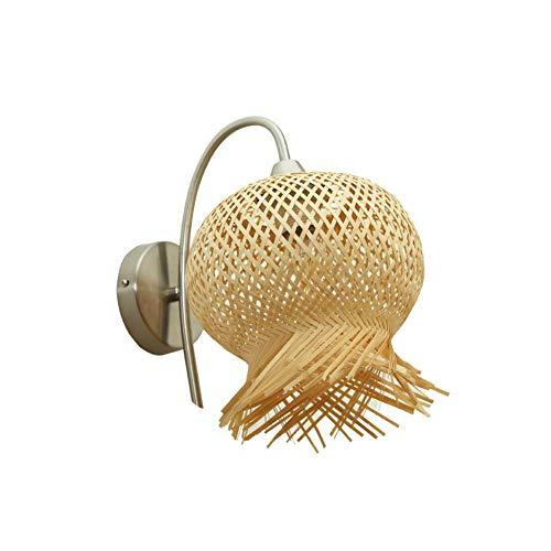 LED bamboe bloem wandlamp handgemaakte wandlamp gang foyer gang trap bedlampje