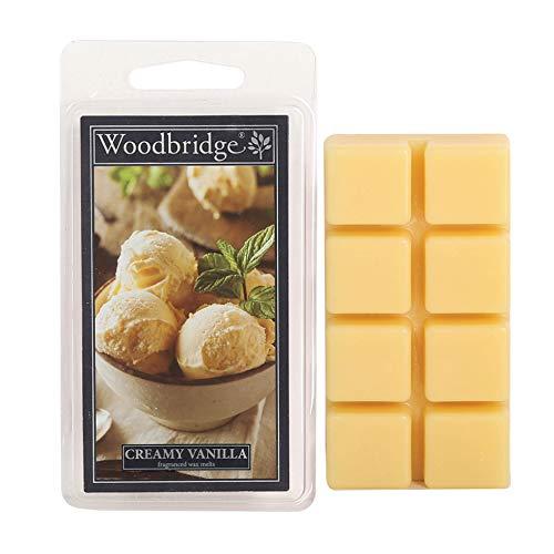 Woodbridge Duftwachs-Melts für Deine Duftlampe - Creamy Vanilla (68g) - 8 Duftwachswürfel mit je 10h Duftdauer für Dein Lieblingsaroma Zuhause