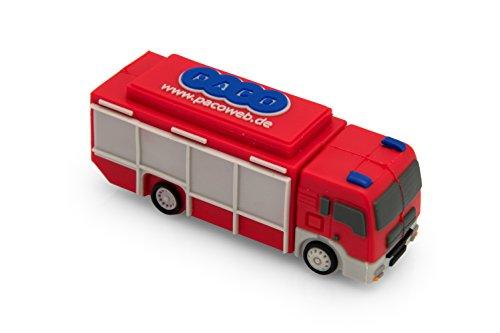 Feuerwehr USB Stick 3D Feuerwehrauto Rüstwagen 16 GB