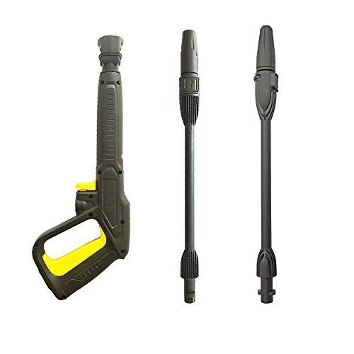 Boquilla de repuesto para lavadora a presión, pistola de agua de alta presión con lanza variable y lanza giratoria, compatible con lavadoras a presión Karcher K2 K3 K4 K5 K6 K7