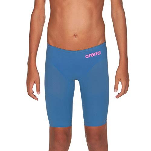 ARENA Jungen Badeanzug Powerskin R-EVO One Jammers Youth Racing, Jungen, Störsender, Powerskin R-evo One Swim Jammer, Blau/Puderrosa, 28
