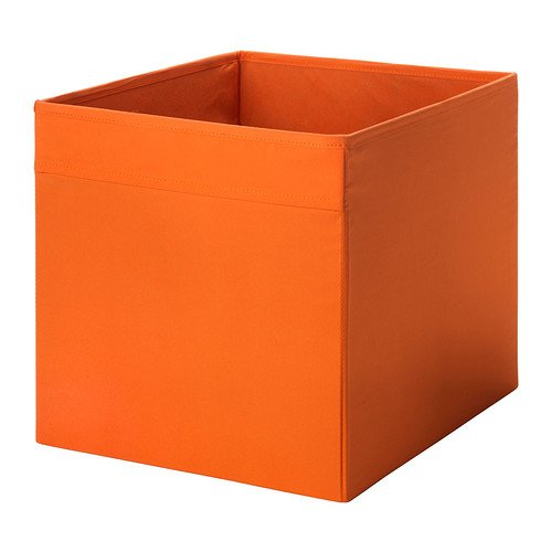Box DRÖNA Orangefarben, Größe 33 x 38 x 33 cm, perfekt für Zeitungen alles vom an der Kleidung.