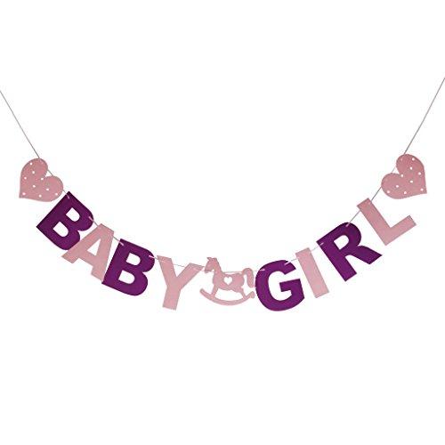 Sein Mädchen Bunting Girlande Banner Baby Shower Party Dekoration
