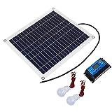 BESPORTBLE 1 Set Panel de Energía Solar Mantenedor de Batería de Panel Solar de Silicio de Cristal Único con Ventosa Controlador Solar Dispositivo de Interconexión USB para Suministros Al