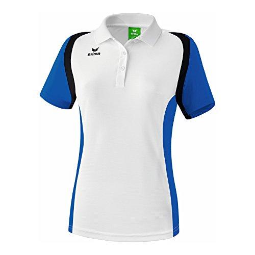 erima Damen Poloshirt Razor 2.0, Weiß/New Royal/Schwarz, 48, 111636