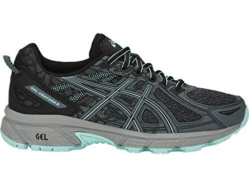 ASICS Women's Gel-Venture 6 MX Running Shoes, 8M, Black/ICY Morning