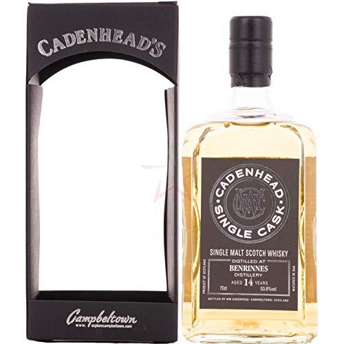 Cadenhead's BENRINNES 14 Years Old SINGLE CASK Single Malt Scotch Whisky 53,80% 0,70 Liter