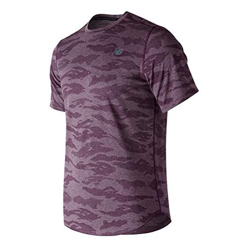 New Balance - Running-T-Shirts für Herren in Lila, Größe L