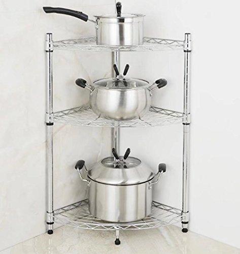 MAIKA HOME - 3/4 laags keukenhoekrek/roestvrijstalen pot/statief/vloer met meerdere verdiepingen A Multi kleuren