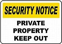 プライベートプロパティの禁止 金属板ブリキ看板警告サイン注意サイン表示パネル情報サイン金属安全サイン