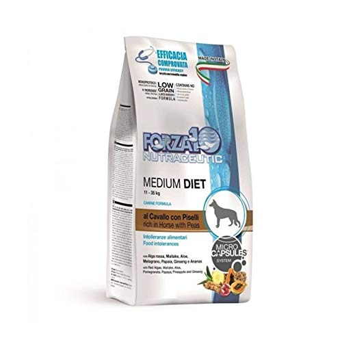 Forza 10 Forza10 Medium Cavallo alimento Cane Secco Premium 12kg Sacchetto, Multicolore, Unica