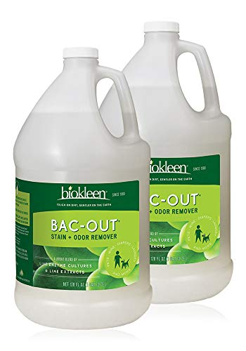 Biokleen Bac-Out Stain and Odor Remover - 256 Ounces - Destroys Stains & Odors Safely, for Pet Urine, Laundry, Diapers, Wine, Carpets, More, Eco-Friendly, Non-Toxic, Plant-Based