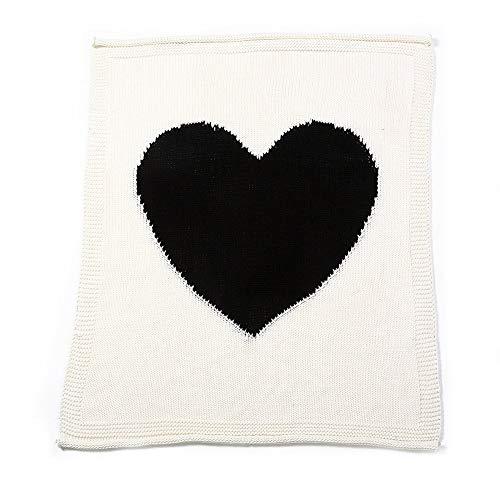 Mariisay Baby Soft Warm Warm Swaddle Casual Chic Couverture Love Heart Pattern Tricoté Crochet Swaddle Wrap Sac De Couchage Sac De Couchage Sommeil Bébé Poussette Wrap (Gris)