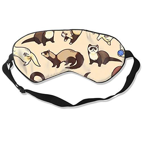 Preisvergleich Produktbild Haariges Frettchen für Nickerchen Schlaf Reise Flugzeug Augenbinde Tiefe Ruhe Schlafbezug mit verstellbarem Kopfgurt