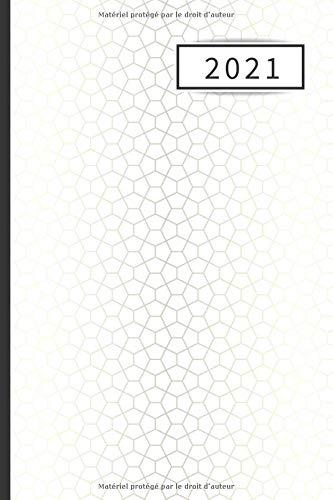 AGENDA 2021: Agenda ANNUEL SEMAINIER (Janvier 2021/Janvier 2022) | Année civile | Format de poche | Agenda professionnel | Calendrier Planificateur ... | Couverture Formes géométriques Argentées