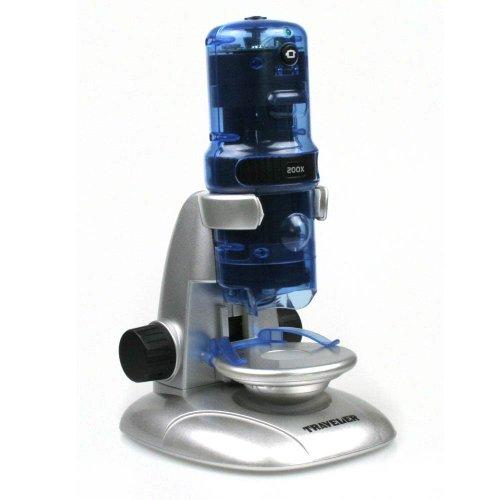 Traveller USB Mikroskop 10x 60x 200x Vergrößerung mit Beleuchtung