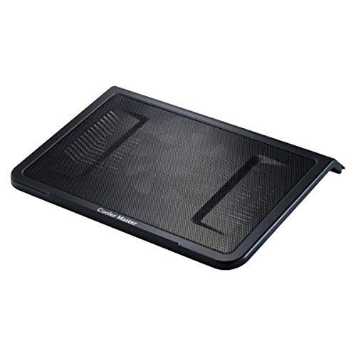 Cooler Master NotePal L1 Notebook-Kühler 'Leiser 160mm Lüfter, Aerodynamic Design Air Intakes, Kompatibel mit bis zu 17 Zoll Laptops' R9-NBC-NPL1-GP