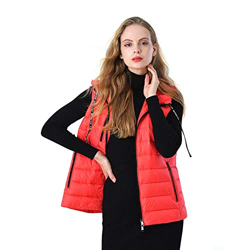 Dames Korte Designer Hooded Down Jacket Vest Parker Lichtgewicht Gewatteerde Gewatteerde Jas Ritszakken Mode Meisje Winter Waterdicht M-2XLZeer Mooi Gift