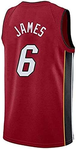 NBA - Camiseta de baloncesto para hombre - NBA Miami Heat # 6 ...