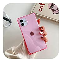 for iPhone 12Proケース用クリアフォンケースfor iPhone 11 Pro Max XR XS Max 7 8 PlusX蛍光カラーソフトフォンバックカバーCoque-A6-for iPhone 12 6.1inch