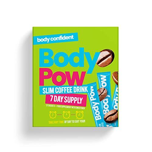 Body Pow Slim-Diät-Trink, 7 kcal pro Tasse. Verstärkt den Stoffwechsel, reduziert den Hunger. Easy Energy Drink. Supercharge Your Coffee