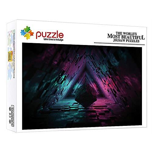 ZTCLXJ 1000 Piezas Niños Puzzle Rompecabezas De Madera Cubo De Rubik para Niños Adultos Educativos para Bebé para Los Mejores Regalos Niñas Y Niños 75 × 50 Cm