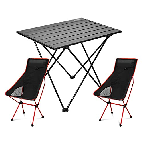 Mesa de Camping Mesa de Camping de aleación de Aluminio Mesa Plegable...