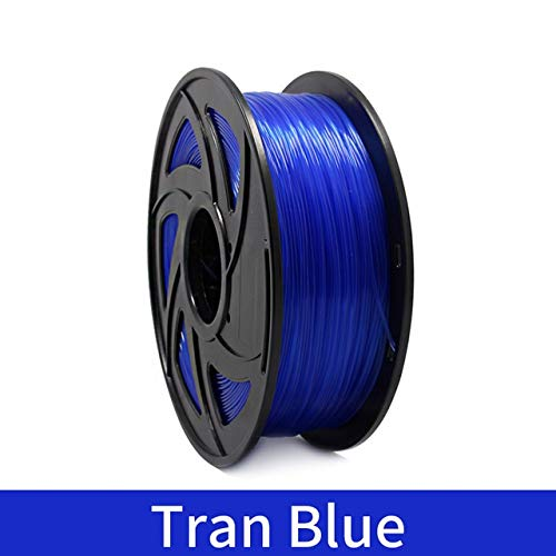 without YXA-3DM, 3D Printer 1KG 1.75mm PLA Filament Printing Materials Colorful For 3D Printer Extruder Pen Rainbow Plastic Accessories Red Gray (Color : Tran Blue)