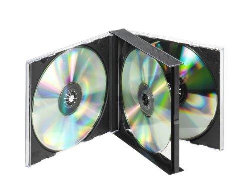 Vivanco Boîtier Double pour CD/DVD Noir für 4 CDs