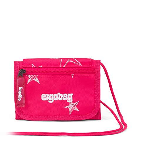 Ergobag Brustbeutel CinBärella, Kleingeldfach, Sichtfenster, Schlüsselring, Pinke Sterne