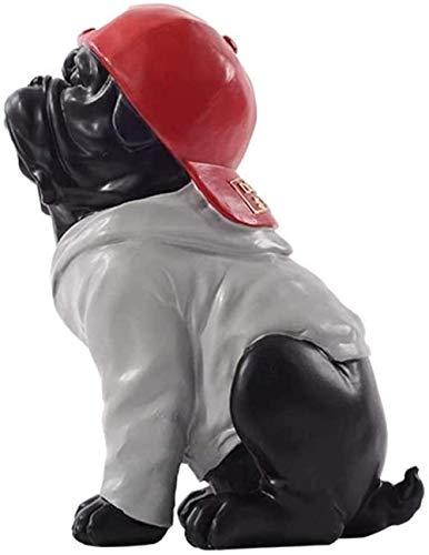 ZHIFENGLIU Desktop-Skulptur Modern Light Luxus Hip-Hop-Bulldogge Ornamente Wohnzimmer Schrank TV-Schrank Weinschrank Dekorationen