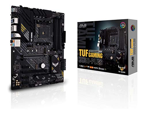 ASUS TUF Gaming B550-PLUS AMD AM4 Zen 3 Ryzen 5000 & 3rd Gen Ryzen ATX Gaming Motherboard (PCIe 4.0, 2.5Gb LAN, HDMI 2.1, BIOS Flashback, USB 3.2 Gen 2, Addressable Gen 2 RGB Header and Aura Sync)